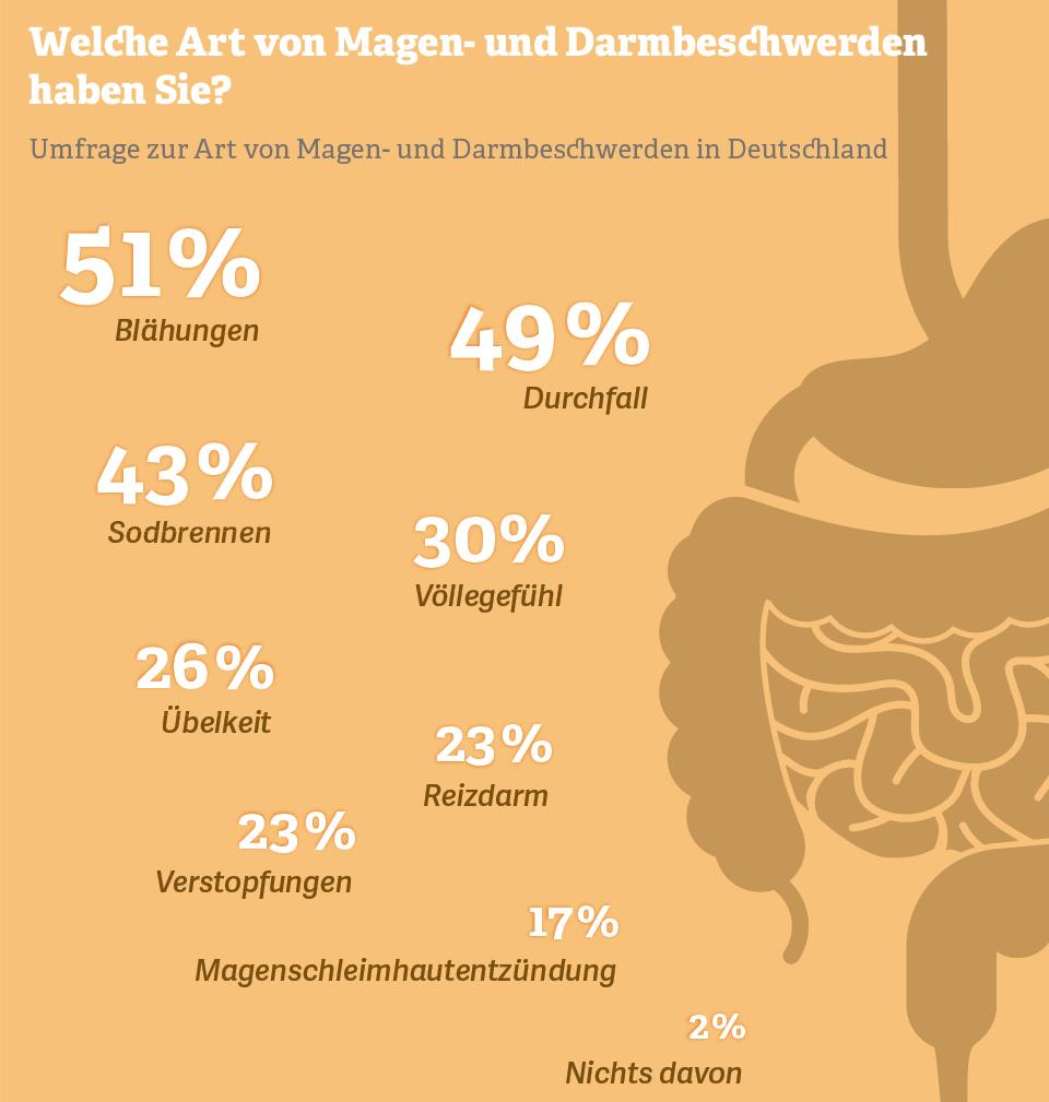Grafik: Welche Art von Magen- und Darmbeschwerden haben Sie?